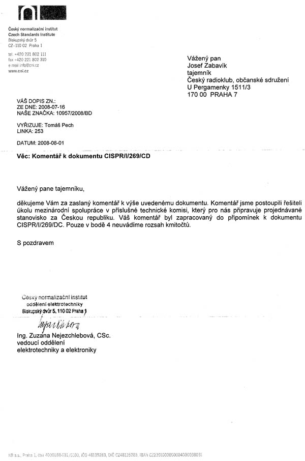 letter of authorization for nso archiv aktualit emc česk 253 radioklub 11293